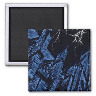 Aimant Bleu foncé gothique d'imaginaire de tempête