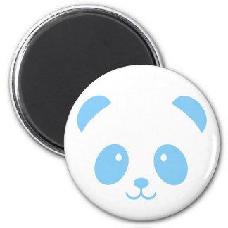 Aimant bleu mignon et câlin de panda