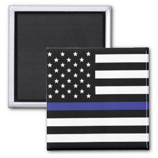 Aimant Blue Line mince - drapeau américain