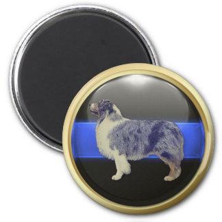 Aimant Blue Line mince je suis un chien de berger