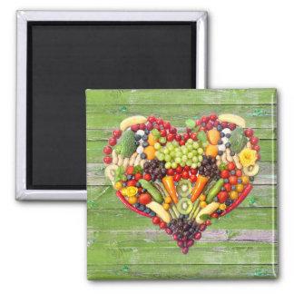 Aimant Bois végétarien de vert d'amour