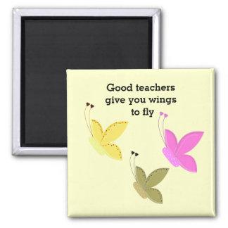 Aimant Bon dire de papillon de professeurs