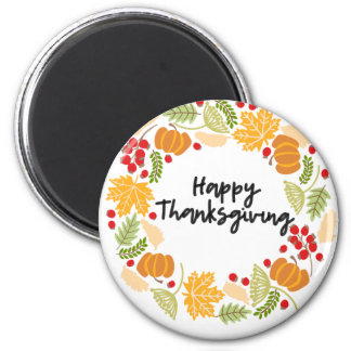 Aimant BON THANKSGIVING, guirlande de thanksgiving,