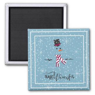 Aimant Bonhomme de neige ID440 bleu de Noël de magie et