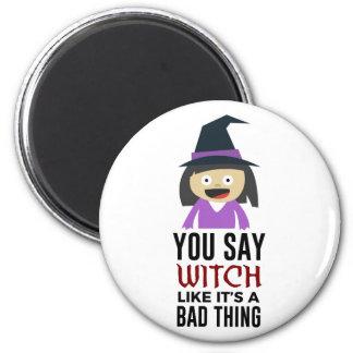 Aimant Bonne conception de Halloween de sorcière de