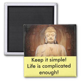 Aimant Bouddha avec la citation