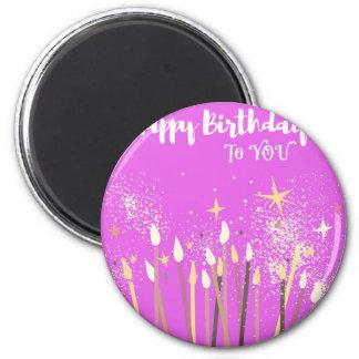 Aimant Bougies de scintillement de joyeux anniversaire