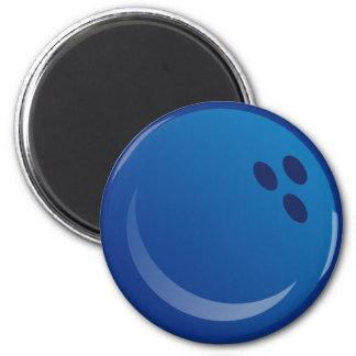 Aimant Boules de bowling bleues