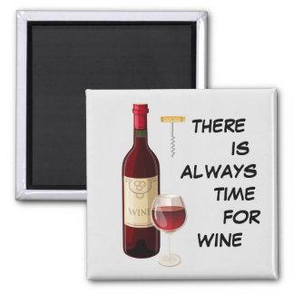 Aimant Bouteille et verre de vin Animated