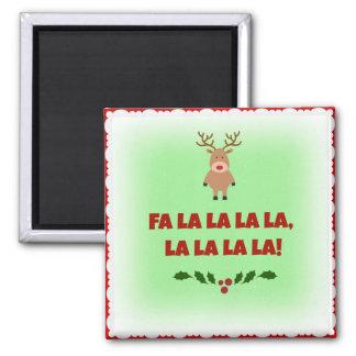 Aimant Bouton de carré de Noël de La de La de La de La de