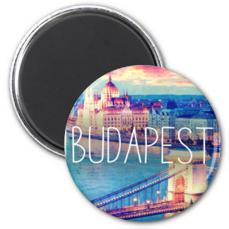 Aimant Budapest, vintage affiche