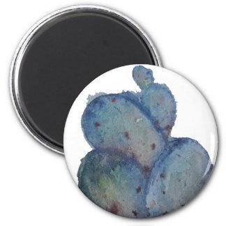 Aimant Cactus bleu