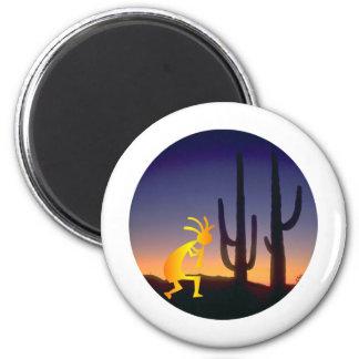 Aimant Cactus et Kokopelli ronds