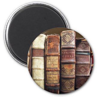 Aimant Cadeau vintage antique de tomes de vieux livres