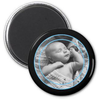Aimant Cadre de photo de bleus layette et de noir