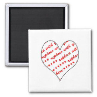 Aimant Cadre en forme de coeur blanc de photo