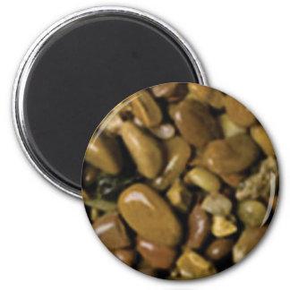 Aimant cailloux bruns bronzages