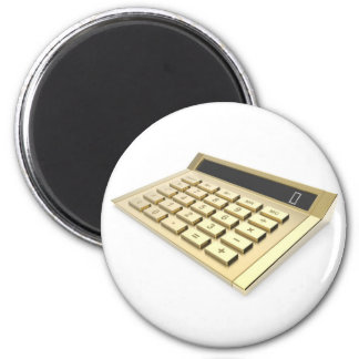 Aimant Calculatrice d'or