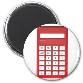 Aimant Calculatrice rouge de calculatrice