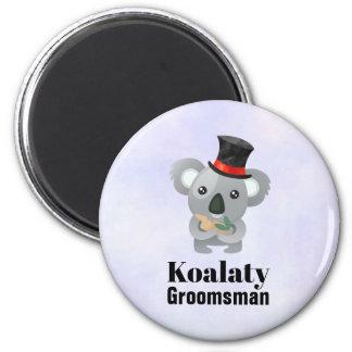Aimant Calembour mignon Koalaty Groomsman de koala
