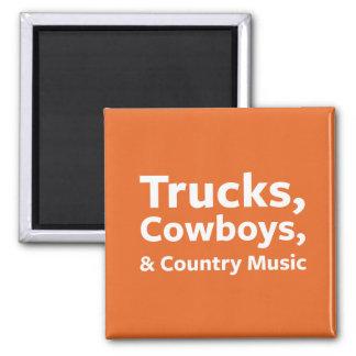 Aimant Camions, cowboys et musique country