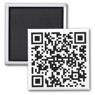 Aimant carré avec des QR-Code