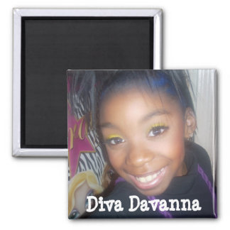Aimant carré de Davanna de diva