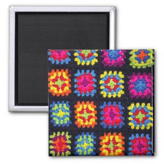 Aimant carré de mamie - aimant de crochet