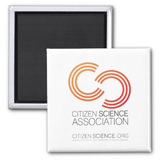 Aimant carré, logo d'association de la Science de