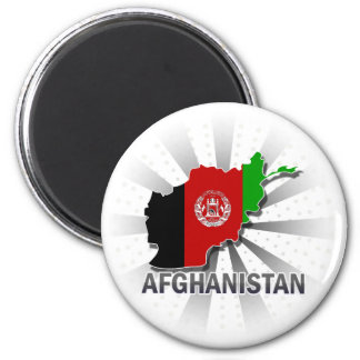 Aimant Carte 2,0 de drapeau de l'Afghanistan