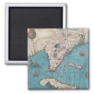 Aimant Carte antique de la Floride et du Cuba