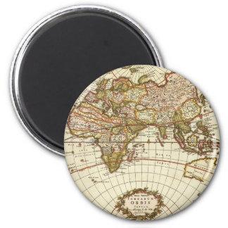 Aimant Carte antique du monde, C. 1680. Par Frederick de