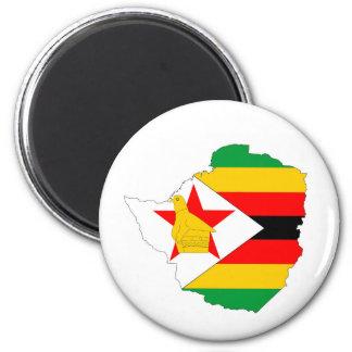 Aimant carte de drapeau de pays du Zimbabwe