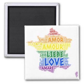 Aimant Carte de la France d'arc-en-ciel de LGBT illustrée