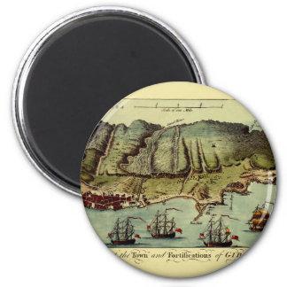 Aimant Carte du Gibraltar 1765