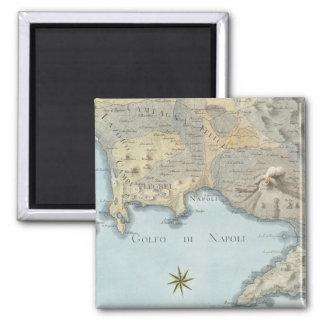 Aimant Carte du Golfe de Naples et d'abords