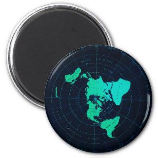 Aimant Carte plate de la terre (projection équidistante