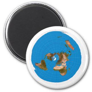 Aimant Carte plate de la terre - projection équidistante