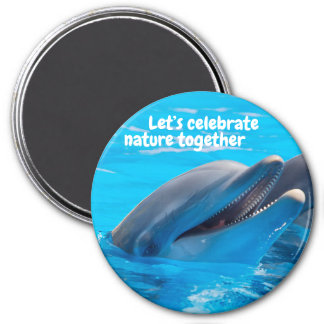 Aimant Célébrons l'aimant de dauphin