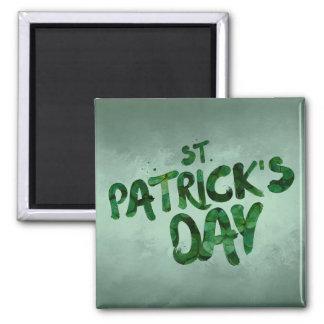 Aimant Celtic irlandais de trèfle de vert du jour de St