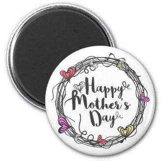 Aimant Cercle avec l'aimant heureux du jour de mère de