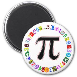 Aimant Cercle coloré et d'amusement de pi calculé