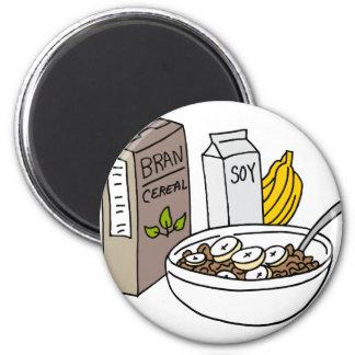 Aimant Céréale de son avec les bananes et le lait de soja