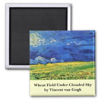 Aimant Champ de blé de Van Gogh sous un ciel opacifié