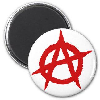 Aimant Chaos punk rouge p de signe de culture de musique