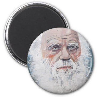 Aimant Charles Darwin - portrait d'huile