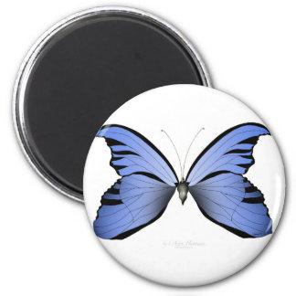 Aimant Chasseur bleu d'azur du papillon 2