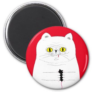 Aimant Chat avec le dessin drôle de souris