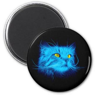 Aimant Chat bleu