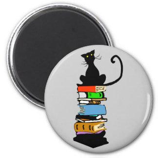 Aimant Chat de bibliothèque